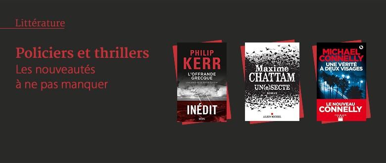 Nouveautés - Policiers et thrillers